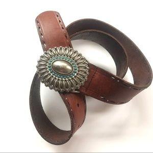 Fossil women's leather belt size M